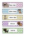 Dog Themed Mini Sterilite Drawer Labels