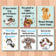 Dog Themed Motivational Posters for Back to School Bulletin Boards