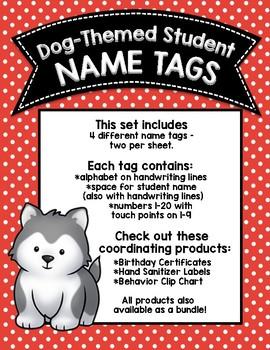 Dog-Themed Name Tags