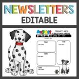Dog Themed Newsletters Editable