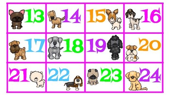 Dog Themed Number Cards