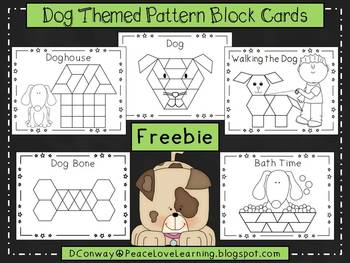 Dog Themed Pattern Block Pictures
