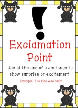 Dog Themed - Punctuation Posters