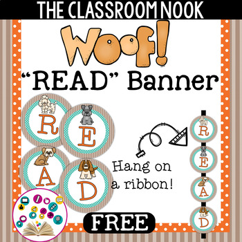 Dog Themed READ Banner