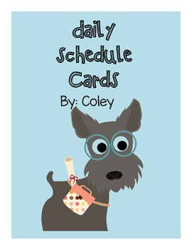 Dog Themed Schedule Cards