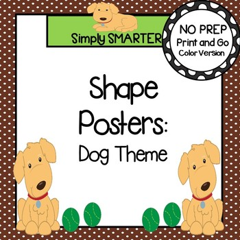 Dog Themed Shape Posters