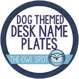 Dog Themed Student Desk Name Tags