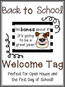 Back to School Dog Welcome Tag