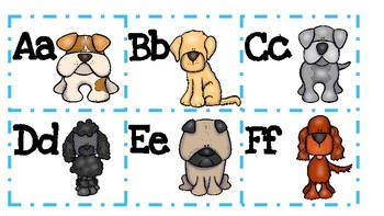 Dog Themed Word Wall Labels