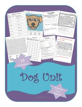 Dog themed Unit - 2nd/3rd Grade - 29 Activities - Common Core Aligned!