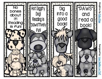 Dog - Various Breed Bookmarks -  16 Designs