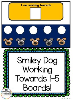 Dog Working Towards 1-5 Visual Reinforcement Board