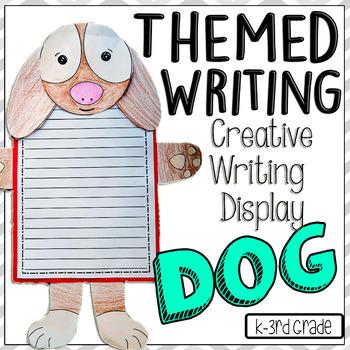 Dog Writing Display Bulletin Board