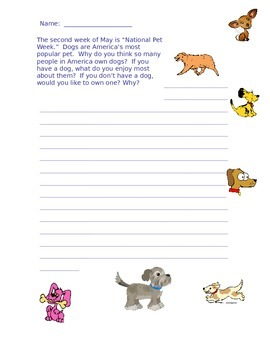 Dog Writing Prompt