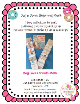 Dog a Donut Sequencing Craft