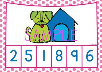 Subitizing Number Game - Dog and Bones - Math Center