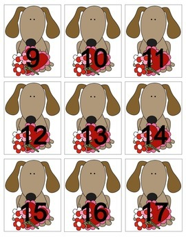 Dog and Cat Calendar Cards with an AB Pattern