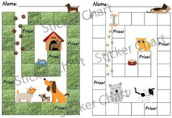 Dog and Cat Animal Sticker/Behavior Chart