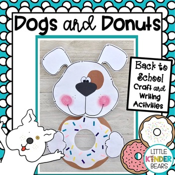 Dog and Donuts Craft: Class Book: Writing Activity: Back to School