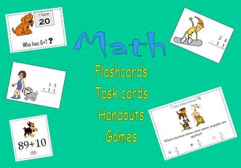 Math:  Flashcards, Task cards, Handouts and Games