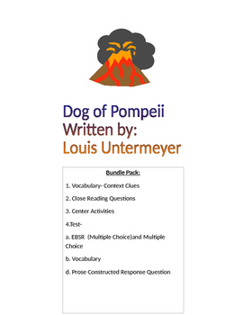 Dog of Pompeii- Bundle
