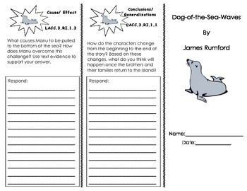 Dog-of-the-Sea Trifold/ 3rd grade Journeys HMH