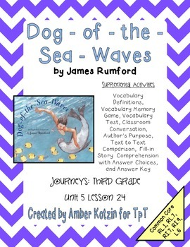 Dog-of-the-Sea-Waves Activities 3rd Grade Journeys Unit 5,
