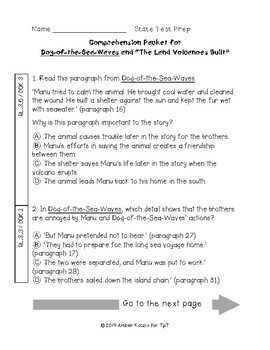 Dog-of-the-Sea-Waves State Test Prep - 3rd Grade Journeys