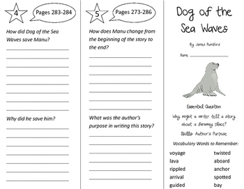 Dog of the Sea Waves Trifold - Journeys 3rd Gr Unit 5 Week 4 (2011)