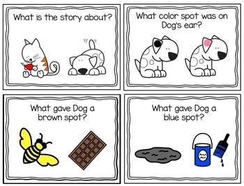 Dog's Colorful Day..Adapted Book, Picture Cards, Literacy & Math