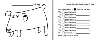 Dog's Colorful Day: colors, numbers, predictable text lesson, graph & mini-book