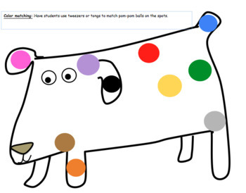 A Colorful Day: COW, counting, graph & mini-book for use with Dog's Colorful Day