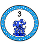 Dog theme Table Numbers -Polka dot