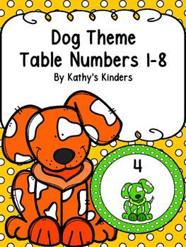 Dog Table Numbers -Polka dot