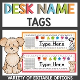 Dog themed Name Tags for Student Desks