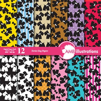 Digital Papers - Dog digital paper and backgrounds, AMB-392
