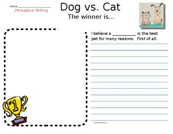 dogs and cats writing paper