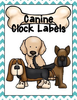 Dog/Canine Clock Labels