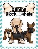 Dog/Canine Clock Labels