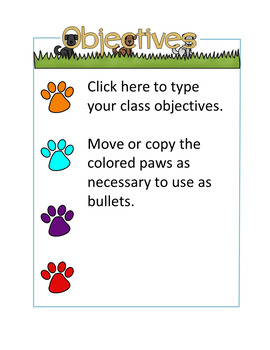 DogTales - with classroom jobs, mission statement, and objectives