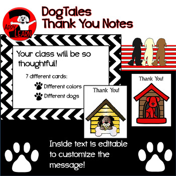 DogTales - Dog-themed Thank You Notes