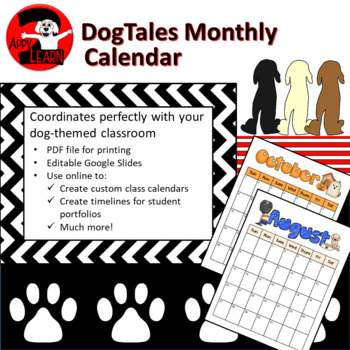 DogTales - Dog-themed monthly calendar