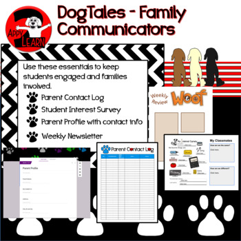 DogTales - weekly newsletter, parent log, parent profile, and interest survey
