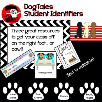 DogTales - with name plates, seating charts, and passes