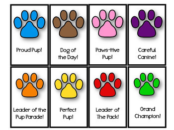 DogTales - Dog theme behavior with punch cards, brag tags, and certificates