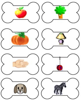Beginning Sound Card Sort File Folder Game (DOG THEME)