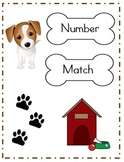 Number Match File Folder Game (DOG THEME)