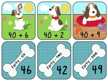 Doggie Base Ten Number Match
