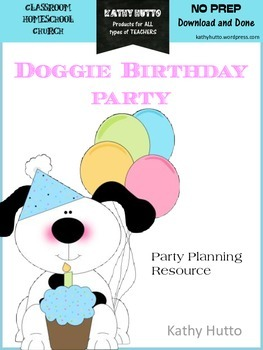 Doggie Birthday Party - learning and planning resource