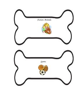 Doggie Bone Book Bin Labels